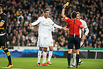 Real Madrid's Raphael Varane and Gareth Bale protesting the referee after a penalty whistle during La Liga match. March 20,2016. (ALTERPHOTOS/Borja B.Hojas)