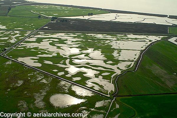 aerial photograph flooding Sonoma County, California