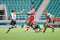 Andrew Bulumakau of Gloucester Rugby 7s in action during the World Club 7s at Twickenham on Sunday 18th August 2013 (Photo by Rob Munro)