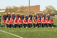 Piscataway, NJ, April 24, 2016.  The starting 11 of the Washington Spirit await introduction prior to their match with Sky Blue FC  The Washington Spirit defeated Sky Blue FC 2-1 during a National Women's Soccer League (NWSL) match at Yurcak Field.