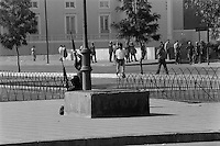 1 Mayo 1986 <br /> Militares y policias sitiaron el centro de Santiago para controlar las protestas callejeras en conmemoracion del Dia Internacional del Trabajo, decenas de personas resultaron heridas y detenidas y algunos profesionales de prensa sufrieron la confiscacion de su material de trabajo.<br /> Forty years ago, on September 11, 1973, a military coup led by General Augusto Pinochet toppled the democratic socialist government of Chile. President Salvador Allende was killed during the  attack to seize  La Moneda presidential palace.  In the aftermath of the coup, a quarter of a million people were detained for their political beliefs, 3000 were killed or disappeared and many thousands were tortured.<br /> Some years later in 1981, while Pinochet ruled Chile with iron fist, a young photographer called Juan Carlos Caceres started to freelance in the streets of Santiago and the poblaciones or poor outskirts, showing the growing resistance against the dictatorship. For the next 10 years Caceres photographed every single protest and social movement fighting for the restoration of democracy. He knew that his camera was his only weapon, he knew that his fate was to register the daily violence and leave his images for the History.<br /> In this days Caceres is working to rescue and organize his collection of images in the project Imagenes de la Resistencia   . With support of some Chilean official institutions, thousands of negatives are digitalized and organized to set up the more complete visual heritage of this  violent period of Chile´s history.<br /> In a time when technology was not very friendly and communications were kind of basic, Juan Carlos Caceres and other photojournalist were always at the right place in the right moment defying the threats of the police. Their work is now  a visual heritage that documents and remind us the fight of Chilean people for democracy.
