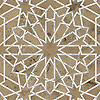 Castilla, a waterjet and hand-cut stone mosaic, shown in honed Jura Grey and polished Calacatta Tia is part of the Miraflores Collection by Paul Schatz for New Ravenna.<br />