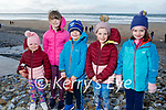 Roisin Flaherty, Emmy and Johnnie Dowling, Keely Flaherty and Aoife Aylward on Banna Beach on Sunday.