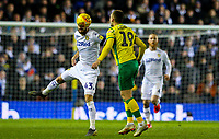 Leeds United's Mateusz Klich vies for possession with Norwich City's Tom Trybull<br /> <br /> Photographer Alex Dodd/CameraSport<br /> <br /> The EFL Sky Bet Championship - Leeds United v Norwich City - Saturday 2nd February 2019 - Elland Road - Leeds<br /> <br /> World Copyright © 2019 CameraSport. All rights reserved. 43 Linden Ave. Countesthorpe. Leicester. England. LE8 5PG - Tel: +44 (0) 116 277 4147 - admin@camerasport.com - www.camerasport.com