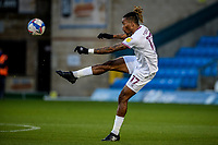 21st November 2020; Adams Park Stadium, Wycombe, Buckinghamshire, England; English Football League Championship Football, Wycombe Wanderers versus Brentford; Ivan Toney (Brentford) plays a high ball into the box