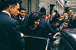 Monica Lewinsky UK 1999 promotional tour for her book Monicas Story. Leaving book signing London 1990s