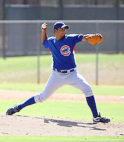 Jhon Rodriguez - Chicago Cubs - 2010 Instructional League.Photo by:  Bill Mitchell/Four Seam Images..