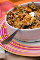 """Europe/France/Aquitaine/33/Gironde/Bassin d'Arcachon /Le Cap-Ferret: Cassoulet de la mer, recette de Cyril Jalbert du restaurant """"Chez Yvan - Le Mascaret"""""""