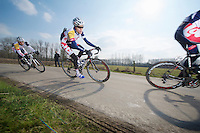 3 Days of De Panne.stage 1: Middelkerke - Zottegem..Tosh Van der Sande (BEL) & the Loto's
