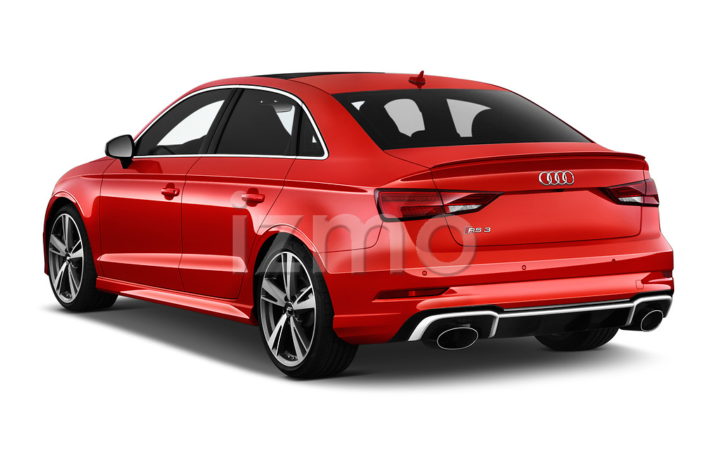Car pictures of rear three quarter view of 2019 Audi RS-3 4WD 4 Door Sedan Angular Rear