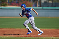 Los Angeles Dodgers Mitch Hansen (15) during an instructional league game against the Milwaukee Brewers on October 13, 2015 at Cameblack Ranch in Glendale, Arizona.  (Mike Janes/Four Seam Images)