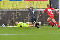 Goalkeeper Lisa Lichtfus (16) of Standard  pictured during a female soccer game between Eendracht Aalst and Standard Femina de Liege on the 11 th matchday of the 2020 - 2021 season of Belgian Scooore Womens Super League , Saturday 23 of January 2021  in Aalst , Belgium . PHOTO SPORTPIX.BE | SPP | STIJN AUDOOREN