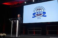 San Francisco, CA - Saturday Feb. 14, 2015: Dr. Bob Contiguglia at the 2014 US Soccer Hall of Fame Induction ceremony.