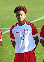 Clayton Irigoyen (2) of Luxemburg pictured during a soccer game between the national teams Under17 Youth teams of  Norway and Luxemburg on day 2 in the Qualifying round in group 3 on saturday 9 th of October 2020  in Tubize , Belgium . PHOTO SPORTPIX   DAVID CATRY
