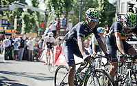 Nairo Quintana (COL/Movistar) finishes 9th on the Mur de Huy, teammate Alejandro Valverde (ESP/Movistar) 11th<br /> <br /> stage 3: Antwerpen (BEL) - Huy (BEL)<br /> 2015 Tour de France