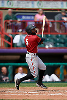 Altoona Curve Bralin Jackson (5) at bat during an Eastern League game against the Erie SeaWolves and on June 4, 2019 at UPMC Park in Erie, Pennsylvania.  Altoona defeated Erie 3-0.  (Mike Janes/Four Seam Images)