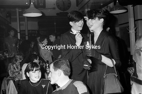Blitz Club Covent Garden London 1980. <br /> Ross Adams known as 'Wigan' and Jill McComish