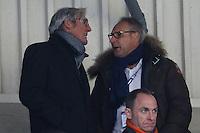 Darmstadts Oberbürgermeister Jochen Partsch (Grüne) und Darmstadt 98 Präsident Rüdiger Fritsch - 11.02.2017: SV Darmstadt 98 vs. Borussia Dortmund, Johnny Heimes Stadion am Boellenfalltor
