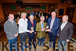 Members of the Ballyheigue Race Committee make special presentation  to Teddy Healy and Tom Lawlor for their service to the Race committee, at their launch of their annual Ballyheigue Race meeting in Ballyheigue on Sunday. L to r: John Brassil, Michael Leen (Chairman), Teddy Healy, Tom Lawlor, Liam O'Mahoney, Jimmy Browne