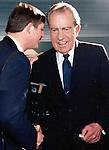 Ron Bennett Photojournalist talks with President Richard M. Nixon, President Richard M. Nixon, Pres. Nixon, Ron Bennett Photographer,