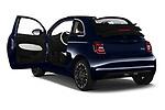 Rear three quarter door view of a 2021 Fiat 500C La Prima 2 Door Convertible