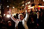 New York - Occupy Wall Street Protest - march onto Brooklyn Bridge