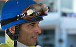 OLDSMAR, FLORIDA - FEBRUARY 13: Jockey John Velzaquez, after he wins the Sam F. Davis Stakes while riding Destin #3, at Tampa Bay Downs on February 13, 2016 in Oldsmar, Florida (photo by Doug DeFelice/Eclipse Sportswire/Getty Images)