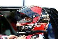 Apr 25, 2014; Baytown, TX, USA; NHRA funny car driver Tony Pedregon during qualifying for the Spring Nationals at Royal Purple Raceway. Mandatory Credit: Mark J. Rebilas-