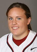 STANFORD, CA - NOVEMBER 3:  Brittany Minder of the Stanford Cardinal softball team poses for a headshot on November 3, 2008 in Stanford, California.