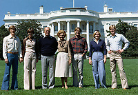 Mike, Gayle, President Ford, Mrs. Ford, Jack, Susan, and Steve on the South Lawn of the White House.  6 September 1976