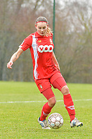 Sylke Calleeuw (9) of Standard pictured during a female soccer game between Standard Femina de Liege and Eendracht Aalst on the 12 th matchday of the 2020 - 2021 season of Belgian Scooore Womens Super League , saturday 30 th of January 2021 in Angleur , Belgium . PHOTO SPORTPIX.BE   SPP   STIJN AUDOOREN