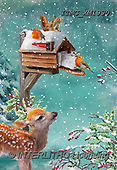 Marcello, CHRISTMAS SYMBOLS, WEIHNACHTEN SYMBOLE, NAVIDAD SÍMBOLOS,deer,birdhouse,red robin, paintings+++++,ITMCXM1990,#XX#
