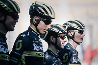 Team Orica-Scott at sign-on<br /> <br /> Il Lombardia 2017<br /> Bergamo to Como (ITA) 247km
