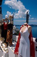 Geschäft in Fira, Insel Santorin (Santorini), Griechenland, Europa