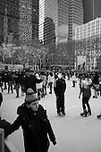 New  York, New York<br /> December 29, 2010<br /> <br /> Skating at Citi Pond at Bryant Park in Manhattan.
