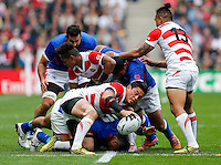 Japan Full Back Ayumu Goromaru wins turnover ball - Mandatory byline: Rogan Thomson - 03/10/2015 - RUGBY UNION - Stadium:mk - Milton Keynes, England - Samoa v Japan - Rugby World Cup 2015 Pool B.