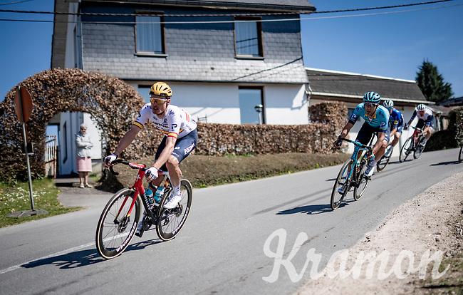 Luis León Sánchez (ESP/Astana - Premier Tech) in the descent of the Stockeu<br /> <br /> 107th Liège-Bastogne-Liège 2021 (1.UWT)<br /> 1 day race from Liège to Liège (259km)<br /> <br /> ©kramon