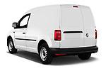 Car pictures of rear three quarter view of a 2019 Volkswagen Caddy Van Base 4 Door Car van angular rear