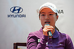 Ssu-Chia Cheng of Chinese Taipei attends the press conference ahead of the Hyundai China Ladies Open 2014 on December 10 2014 at Mission Hills Shenzhen, in Shenzhen, China. Photo by Xaume Olleros / Power Sport Images