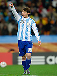 27.06.2010, Soccer City Stadium, Johannesburg, RSA, FIFA WM 2010, Argentina (ARG) vs Mexico (MEX), im Bild Lionel Messi of Argentina during the 2010 FIFA World Cup South Africa. EXPA Pictures © 2010, PhotoCredit: EXPA/ Sportida/ Vid Ponikvar +++ Slovenia OUT +++