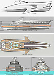 WITH VIDEO<br /> <br /> Pictured:  The designs<br /> <br /> A team of designers have revealed their incredible new £450 million mega-yacht concept inspired by Roman architecture.  The 501ft (153m) long 'Prodigium' has pools on three different levels and on the top deck the lounge area is surrounded by impressive marble columns.<br /> <br /> The palatial vessel combines the civilised ancient design with modern 'toys' and luxuries and has room for three helicopters and eight jet skis.  With its 34 meter width the unique and stylish yacht is also the widest boat ever conceived but is still capable of reaching a crushing speed of around 22 knots.  SEE OUR COPY FOR DETAILS.<br /> <br /> Please byline: Lazzarini Design Studio/Solent News<br /> <br /> © Lazzarini Design Studio/Solent News & Photo Agency<br /> UK +44 (0) 2380 458800