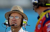Apr 20, 2006; Phoenix, AZ, USA; Nascar Nextel Cup car owner Jack Roush during qualifying for the Subway Fresh 500 at Phoenix International Raceway. Mandatory Credit: Mark J. Rebilas