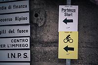 race start<br /> <br /> stage 15: Tolmezzo – Sappada (176 km)<br /> 101th Giro d'Italia 2018