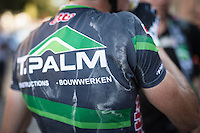 After racing in the 32°C heat all day, the race jerseys are drenched with salt & sweat<br /> <br /> Vlaamse Druivenkoers 2016