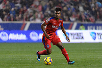 Harrison, NJ - Thursday March 01, 2018: Luis Ovalle. The New York Red Bulls defeated C.D. Olimpia 2-0 (3-1 on aggregate) during a 2018 CONCACAF Champions League Round of 16 match at Red Bull Arena.
