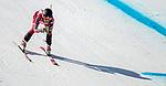 Erin Latimer, PyeongChang 2018 - Para Alpine Skiing // Ski para-alpin.<br /> Erin Latimer skis in the women's standing super-G // Erin Latimer skie dans le super-G debout des femmes. 11/03/2018.
