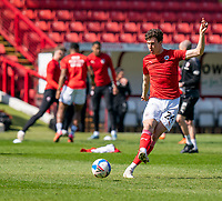 24th April 2021, Oakwell Stadium, Barnsley, Yorkshire, England; English Football League Championship Football, Barnsley FC versus Rotherham United; Aapo Halme of Barnsley warming up ahead of kick off