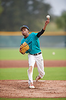 Shayne Smith (58) of Severn, Maryland during the Baseball Factory Pirate City Christmas Camp & Tournament on December 29, 2018 at Pirate City in Bradenton, Florida. (Mike Janes/Four Seam Images)