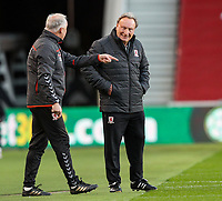 Middlesbrough manager Neil Warnock has a word with assistant Kevin Blackwell<br /> <br /> Photographer Alex Dodd/CameraSport<br /> <br /> The EFL Sky Bet Championship - Middlesbrough v Norwich City - Saturday 21st November 2020 - Riverside Stadium - Middlesbrough<br /> <br /> World Copyright © 2020 CameraSport. All rights reserved. 43 Linden Ave. Countesthorpe. Leicester. England. LE8 5PG - Tel: +44 (0) 116 277 4147 - admin@camerasport.com - www.camerasport.com