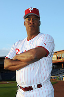 Feb 20, 2009; Clearwater, FL, USA; The Philadelphia Phillies coach Milt Thompson (25) during photoday at Bright House Field. Mandatory Credit: Tomasso De Rosa/ Four Seam Images